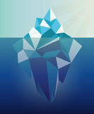 Iceberg graphic illustration. Iceberg under water graphic illustration royalty free illustration