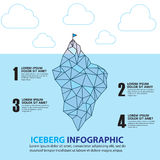 Iceberg graphics. Bacckground and business concept Stock Image