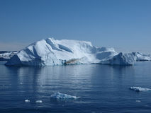 Iceberg, Greenland. Iceberg south of Ilulissat, from the boat doing Greenland west coast ferry Stock Image