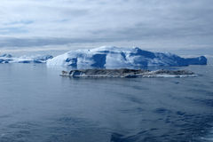 Iceberg, Greenland west coast in summer. Iceberg south of Ilulissat, from the boat doing Greenland west coast ferry Royalty Free Stock Images