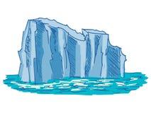 Iceberg. Hand drawn, cartoon, sketch illustration of iceberg Stock Photos