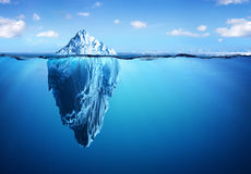 Iceberg - Hidden Danger And Global Warming Royalty Free Stock Photography
