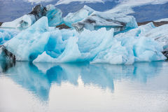 Iceberg in ice lagoon - Jokulsarlon, Iceland. Royalty Free Stock Photography