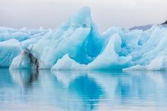 Iceberg in ice lagoon - Jokulsarlon, Iceland. Stock Images
