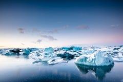 Iceberg in ice lagoon - Jokulsarlon, Iceland. Stock Photography