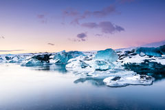 Iceberg in ice lagoon - Jokulsarlon, Iceland. Ice lagoon - Jokulsarlon, South Iceland Royalty Free Stock Images