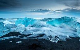 Iceberg in ice lagoon - Jokulsarlon, Iceland. Royalty Free Stock Photos