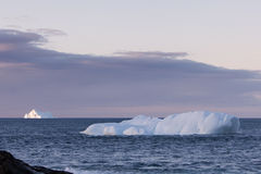 Iceberg. S along the coast of Newfoundland Royalty Free Stock Photos