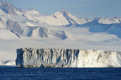 Iceberg. Iceshelf at Antarctica seen from the ship