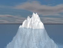 Iceberg illustration intuition, hided opportunity concept. Iceberg illustration intuition, hided opportunity and subconscious mind concept Royalty Free Stock Photography
