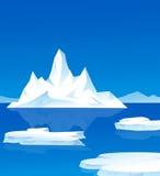 Iceberg illustration. Iceberg is a  landscape Royalty Free Stock Images