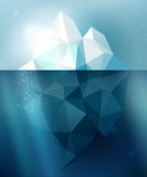 Iceberg illustration Stock Photo