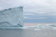 Iceberg in Ilulissat at sunset Royalty Free Stock Photo