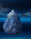 Iceberg inminente del revestimiento marino libre illustration