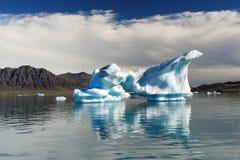 Iceberg islandêses fotografia de stock