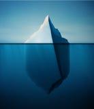 Iceberg isolé Photographie stock
