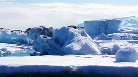 Iceberg at Jokulsarlon in in east fjords in Iceland Royalty Free Stock Photos