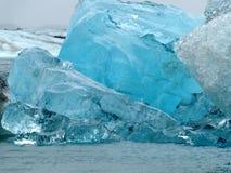 Iceberg in Jokulsarlon, Islanda Fotografia Stock
