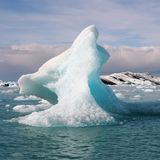 Iceberg on a Jokulsarlon lake Royalty Free Stock Image