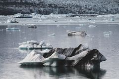 Iceberg in Jokulsarlon summer season in Iceland stock image