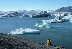 Iceberg Lagoon, Jokulsarlon lake, Iceland Stock Photo