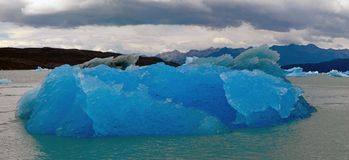 Iceberg in lake Argentino near Upsala glacier. stock image