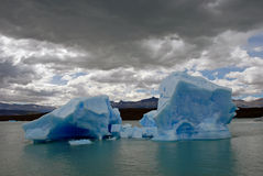 Iceberg in lake Argentino near Upsala glacier. royalty free stock photo