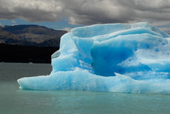 Iceberg in lake Argentino near Upsala glacier. Royalty Free Stock Photography
