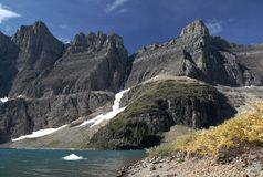 Iceberg Lake, Glacier N P Stock Photos
