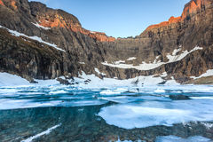 Iceberg Lake, Glacier National Park, MT Royalty Free Stock Images