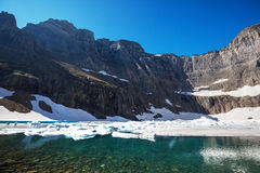 Iceberg lake. In Glacier Park,Montana royalty free stock photography