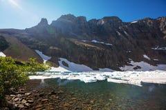Iceberg lake. In Glacier Park,Montana stock photography