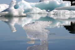 Iceberg from a lake in Iceland Stock Image