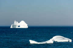 Iceberg with a Large Hole, Newfoundland Royalty Free Stock Image