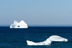 Iceberg with a Large Hole, Newfoundland Stock Photography