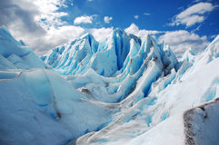 Iceberg  in layers. Icebergs are in layers under the blue sky Royalty Free Stock Images