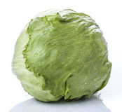 Iceberg Lettuce. With Clipping Path stock image