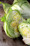 Iceberg lettuce close up view of vegetal Royalty Free Stock Photo