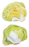 Iceberg lettuce isolated Royalty Free Stock Images