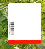 Iceberg lettuce in plastic bag package Stock Photos