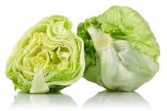 Iceberg lettuce. On white background royalty free stock photos