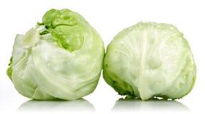 Iceberg lettuce. On white background stock image