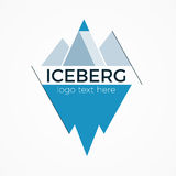 Iceberg logo concept. Iceberg vector logo or icon concept. Flat design illustration with text block. Minimalistic brand sign. Isolated on white background Royalty Free Stock Photography