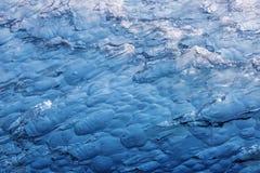 Iceberg macro. A close-up photo of a blue iceberg stock image