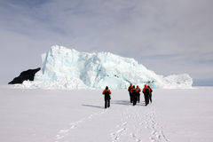 Iceberg in McMurdo Sound, Antarctica Stock Images