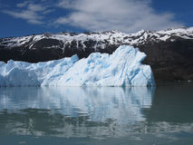Iceberg and mountains in Calafate Stock Photography