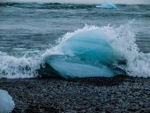 Iceberg. Near Jokulsarlon lagoon (Iceland Royalty Free Stock Images