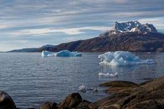 Iceberg nel fiordo di Nuuk Immagine Stock