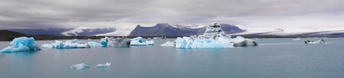 Iceberg nella laguna del ³ n del rlà del ¡ di Jökulsà Fotografia Stock
