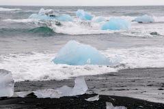Iceberg nella laguna del ³ n del rlà del ¡ di Jökulsà Immagini Stock